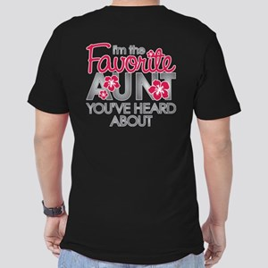 Favorite Aunt Men's Fitted T-Shirt (dark)