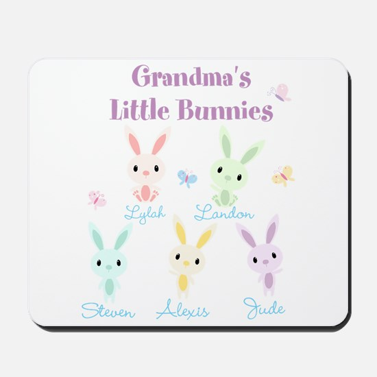 Grandmas little bunnies custom Mousepad