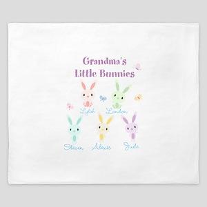 Grandmas little bunnies custom King Duvet