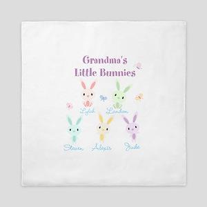 Grandmas little bunnies custom Queen Duvet