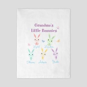 Grandmas little bunnies custom Twin Duvet