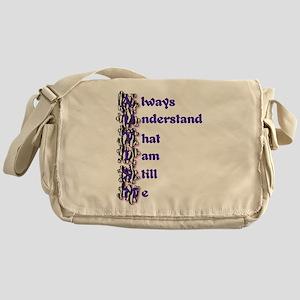 Zebra Autism Acrostic Poem Messenger Bag