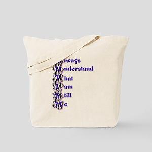 Zebra Autism Acrostic Poem Tote Bag
