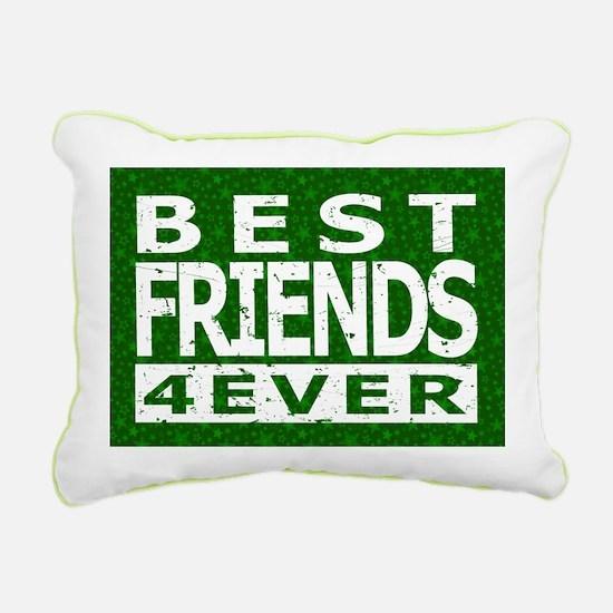 Best Friends 4 Ever Rectangular Canvas Pillow