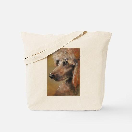 Cute Apricot standard poodle Tote Bag