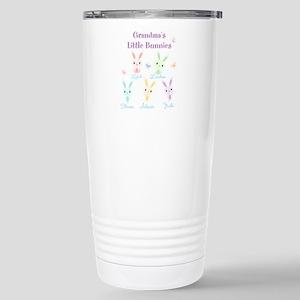 Grandmas little bunnies custom Travel Mug