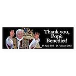 Thank you, Pope Benedict! Sticker (Bumper 50 pk)