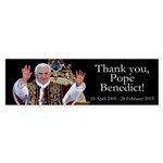 Thank you, Pope Benedict! Sticker (Bumper 10 pk)