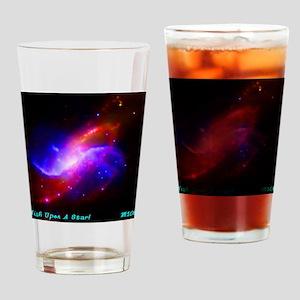 M106 Spiral Galaxy Drinking Glass