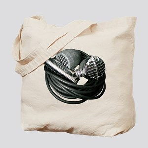 Harp and Microphone Tote Bag