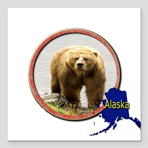 "Alaska! Square Car Magnet 3"" x 3"""