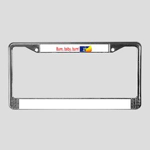 New York State Flag Burn (wide) License Plate Fram