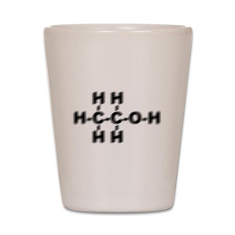 Drunken Ethanol Molecule Shot Glass