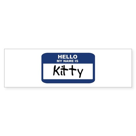 Hello: Kitty Bumper Sticker