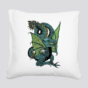 Wyvern Grotesque Square Canvas Pillow