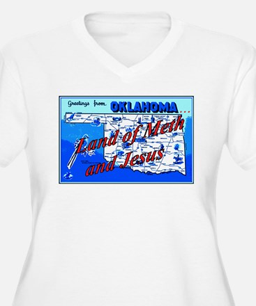 Land of meth and jesus Plus Size T-Shirt