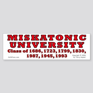 Miskatonic Univ. Bumper Sticker