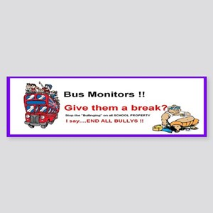 Bus_Monitor_Bullys Sticker (Bumper)