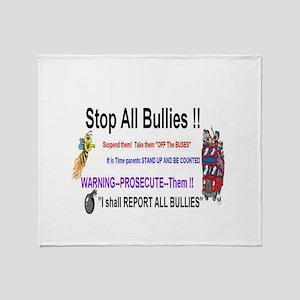 Stop All Bullies Throw Blanket