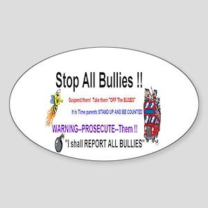 Stop All Bullies Sticker (Oval)