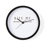 Bite Me (design) Wall Clock
