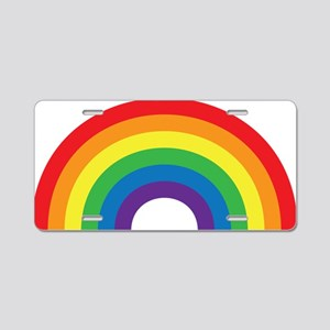 Gay Rainbow Aluminum License Plate