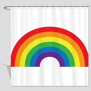 Gay Rainbow Shower Curtain