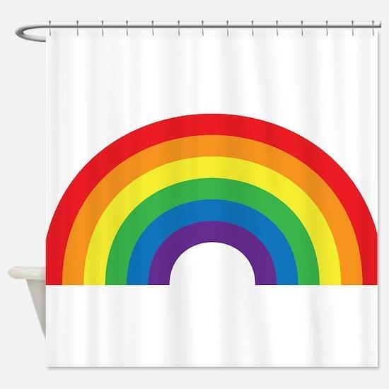 Gay Rainbow Shower Curtain