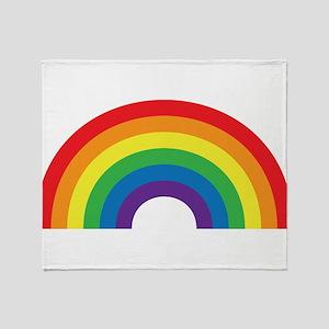 Gay Rainbow Throw Blanket