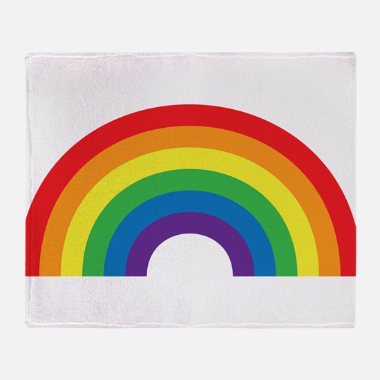 Gay Rainbow Throw Blanket