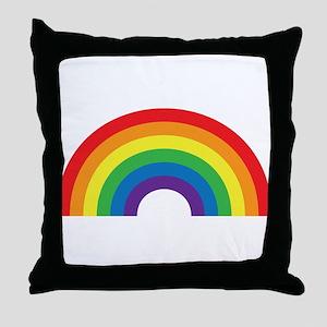 Gay Rainbow Throw Pillow
