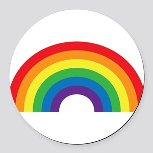 Gay Rainbow Round Car Magnet