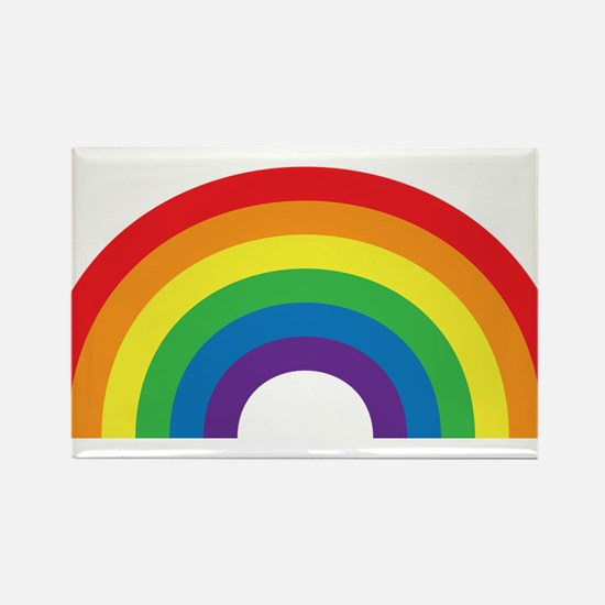 Gay Rainbow Rectangle Magnet