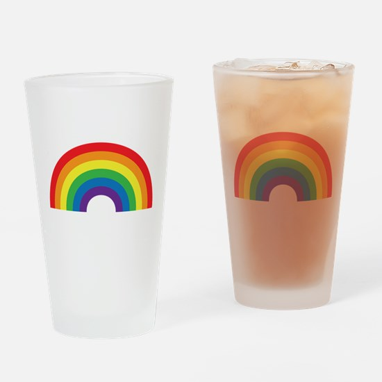 Gay Rainbow Drinking Glass