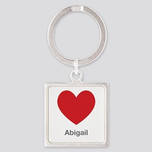 Abigail Big Heart Square Keychain