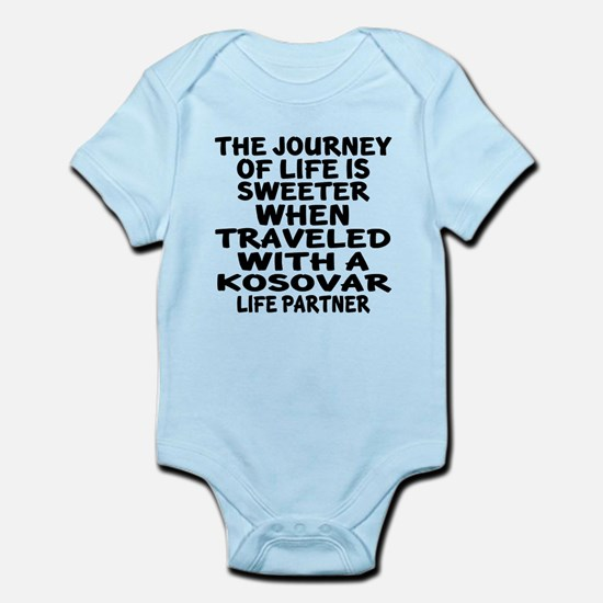 Traveled With Kosovar Life Partner Infant Bodysuit