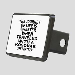 Traveled With Kosovar Life Rectangular Hitch Cover