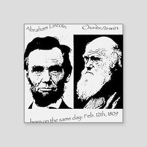 Abraham Lincoln & Charles Darwin Sticker