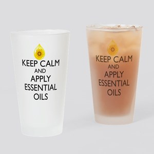 Keep Calm and Apply Essential Oils Drinking Glass