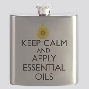 Keep Calm and Apply Essential Oils Flask