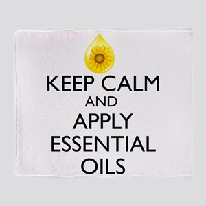 Keep Calm and Apply Essential Oils Throw Blanket