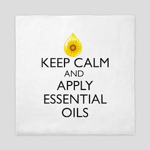 Keep Calm and Apply Essential Oils Queen Duvet