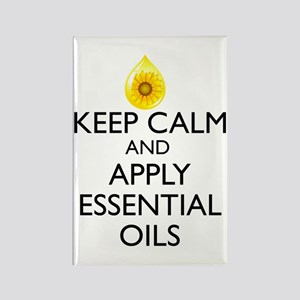 Keep Calm and Apply Essential Oil Rectangle Magnet