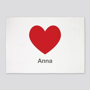 Anna Big Heart 5'x7'Area Rug