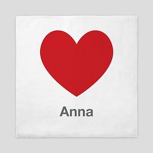 Anna Big Heart Queen Duvet