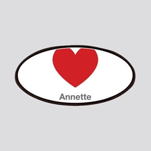Annette Big Heart Patches