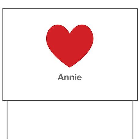 Annie Big Heart Yard Sign