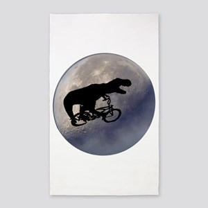 T-Rex vintage moon 3'x5' Area Rug