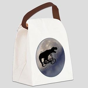 T-Rex vintage moon Canvas Lunch Bag