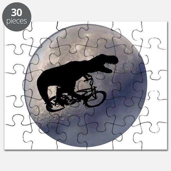 T-Rex vintage moon Puzzle